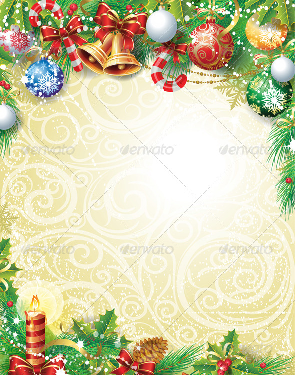 Vintage Christmas Background - Christmas Seasons/Holidays
