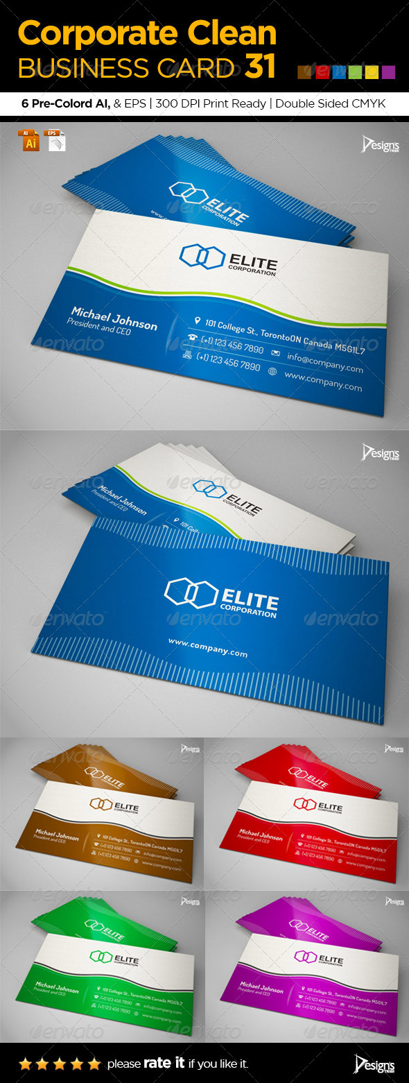 Corporate Clean Business Card 31 - Corporate Business Cards