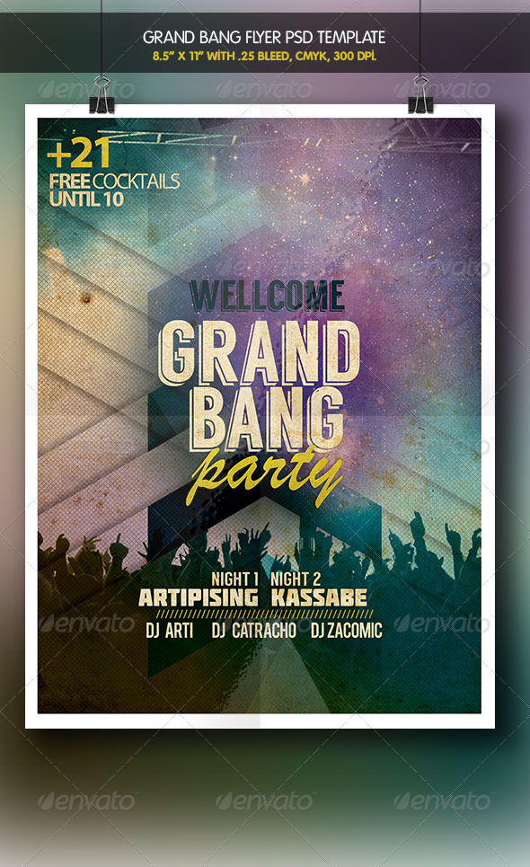 Grand Bang Party Flyer  - Clubs & Parties Events
