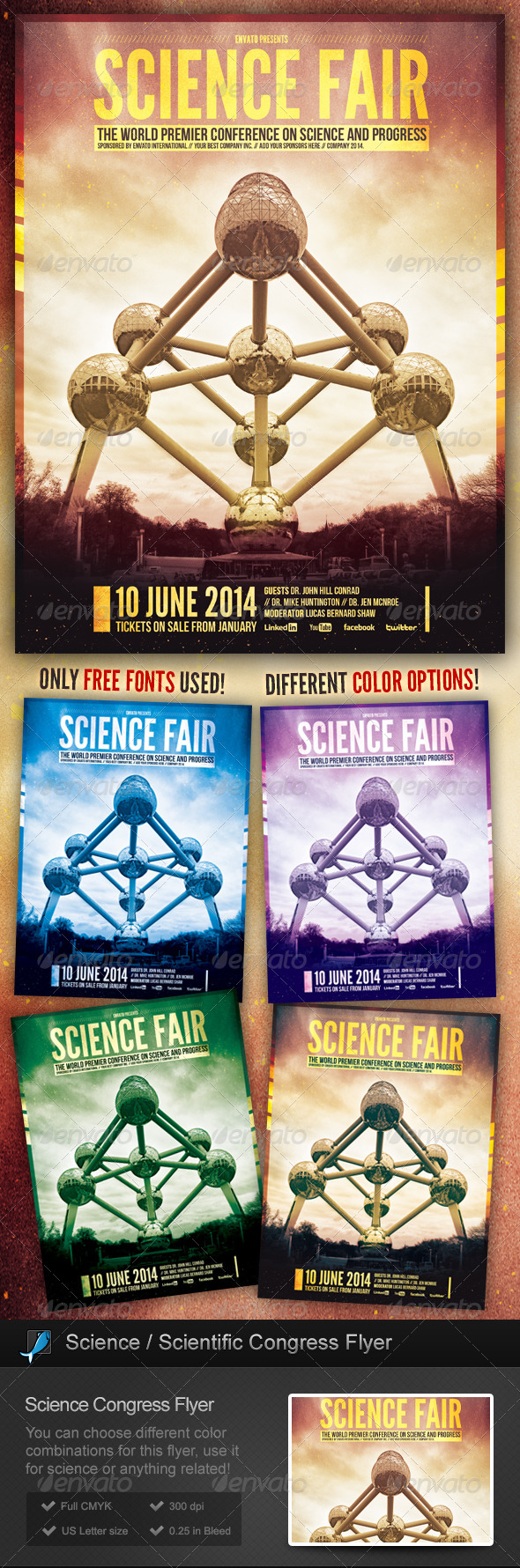 Science / Scientific Congress Flyer - Miscellaneous Events