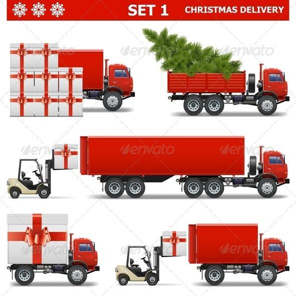 Vector Christmas Delivery Set 1 - Christmas Seasons/Holidays