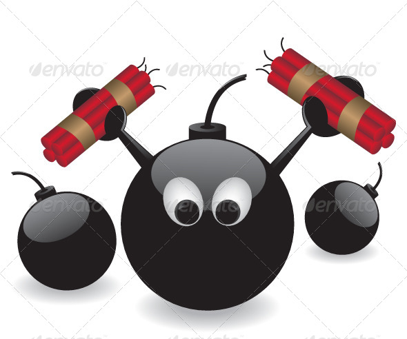 Bomb and Dynamite Illustration - Characters Vectors