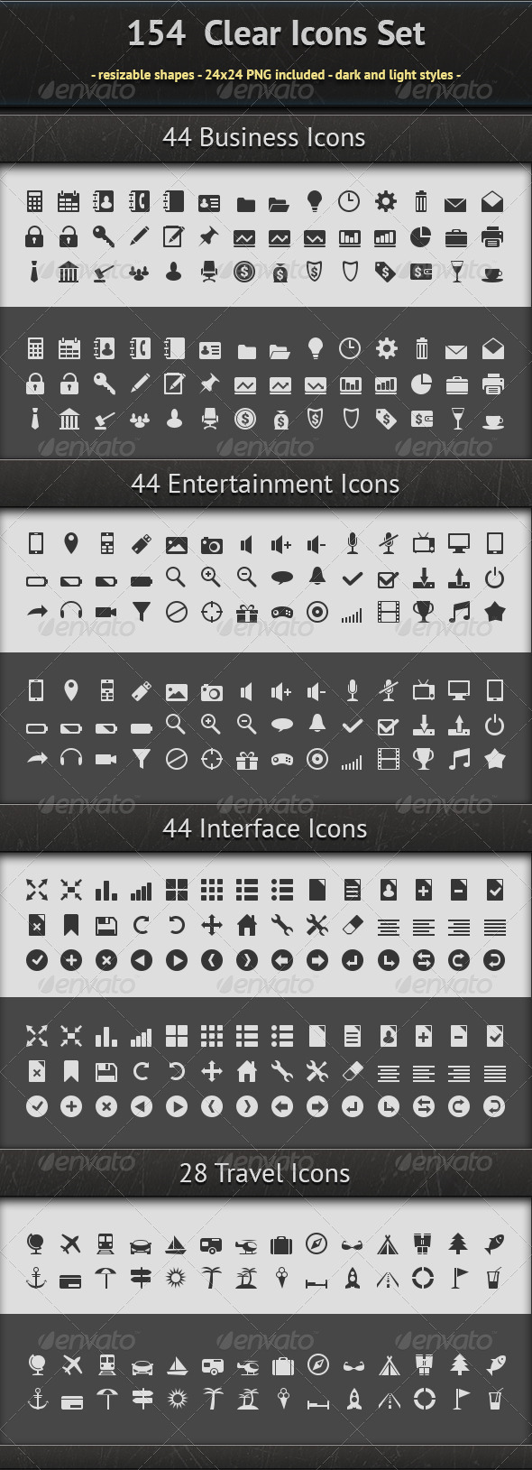 154 Icons Set - Web Icons