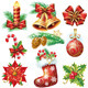 Set with Christmas Symbols and Objects - GraphicRiver Item for Sale