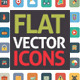 Flat Icons Square in Vector Format - GraphicRiver Item for Sale
