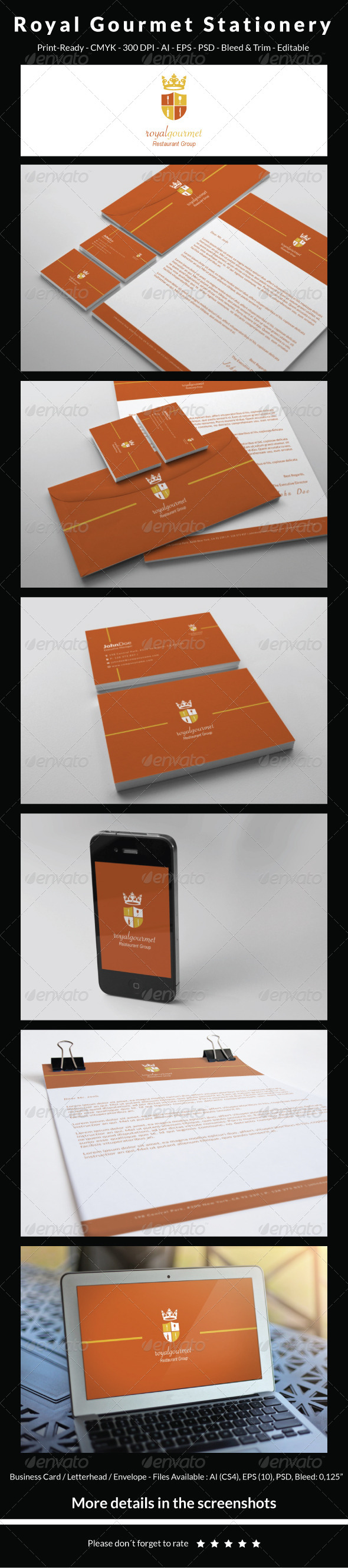 Royal Gourmet - Stationery - Stationery Print Templates