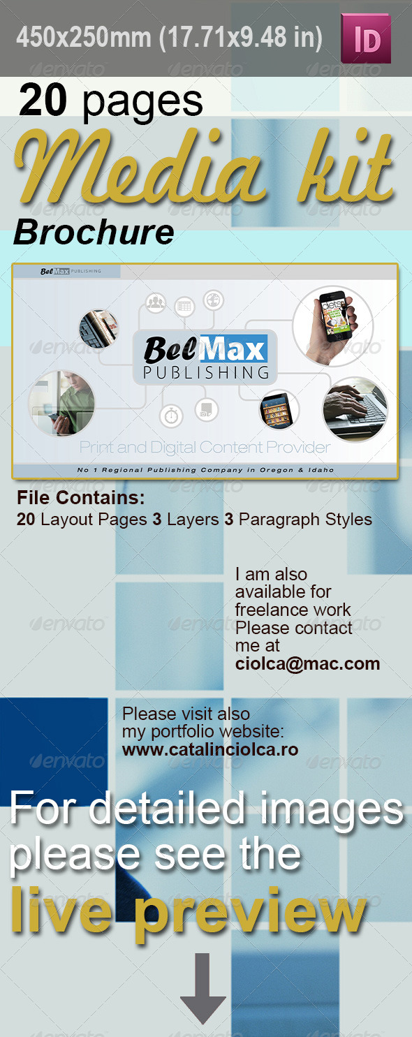 20 Pages Media Kit - Corporate Brochures