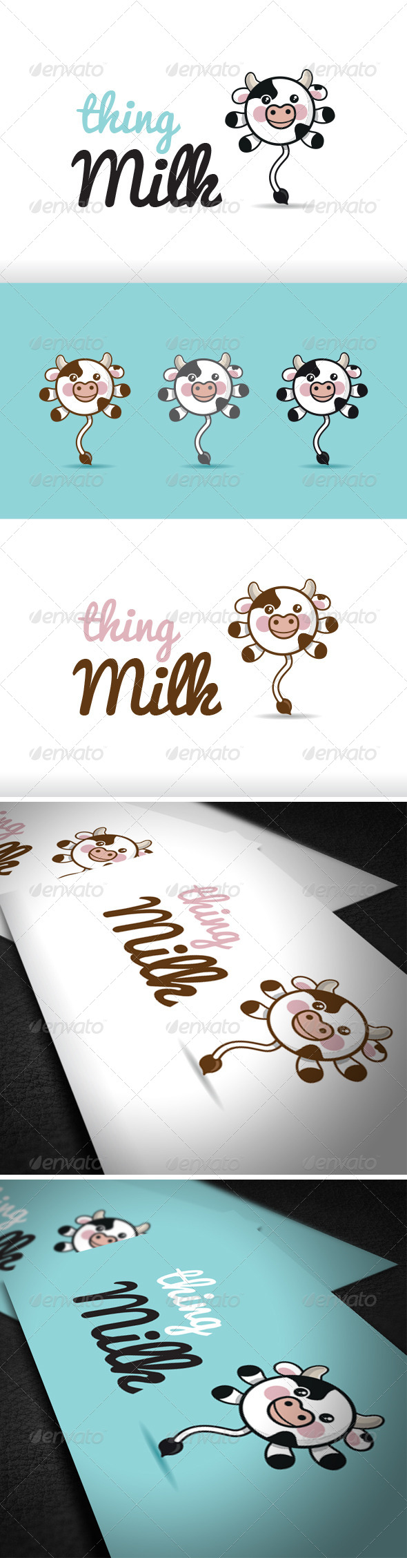 Thing Milk Logo Template - Vector Abstract