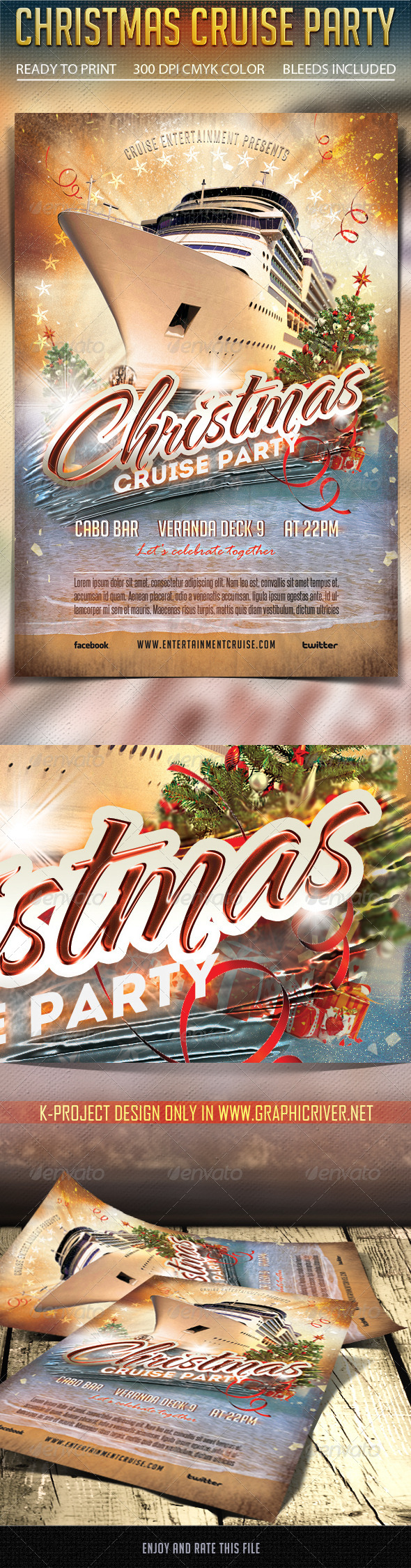 Christmas Cruise Party Flyer - Clubs & Parties Events