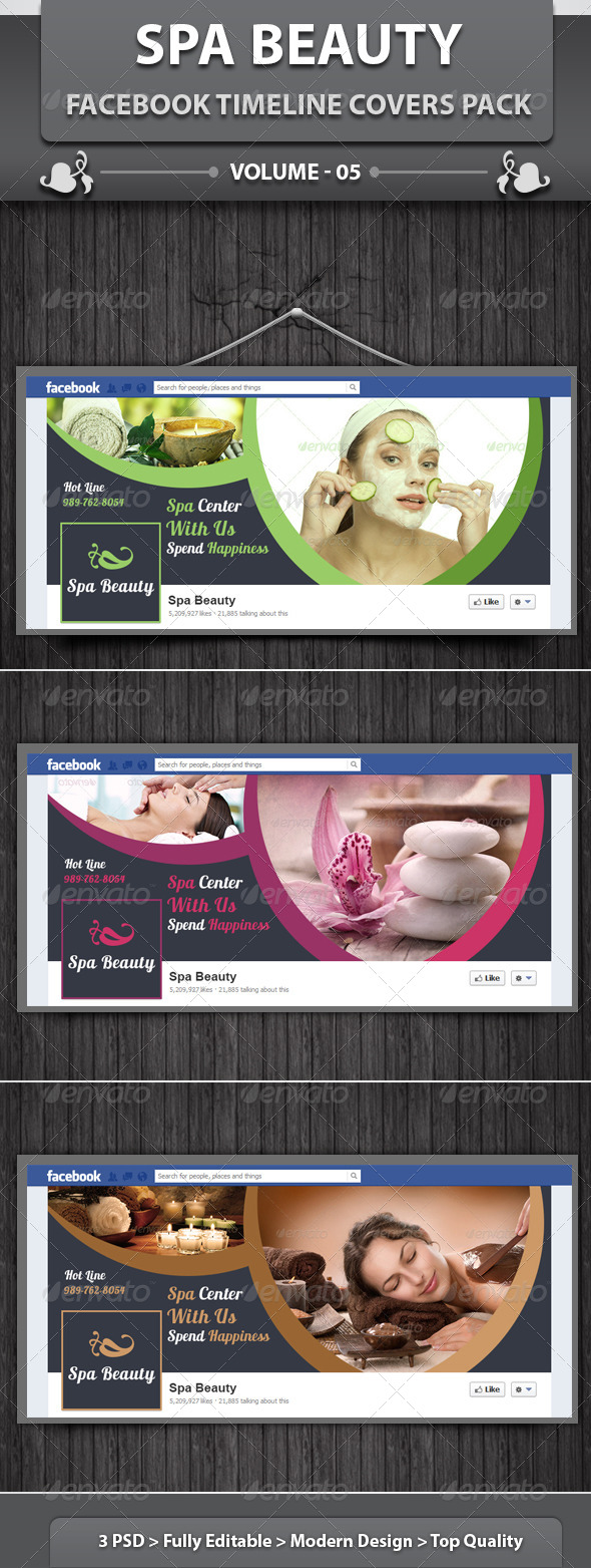 Spa & Beauty Saloon FB Timeline | Volume 5 - Facebook Timeline Covers Social Media