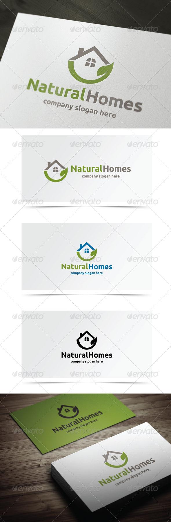 Natural Homes - Nature Logo Templates