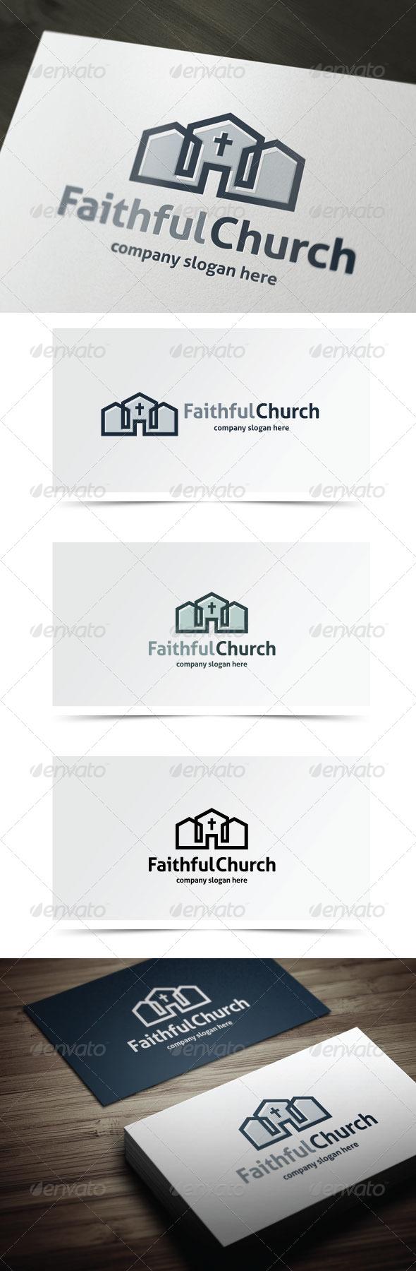 Faithful Church - Buildings Logo Templates