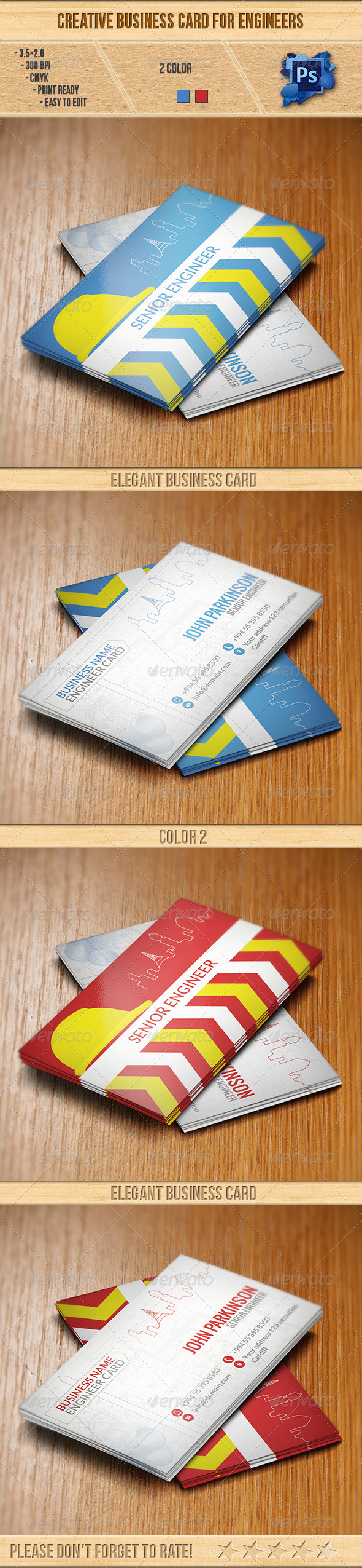 Creative Business Card for Engineers - Creative Business Cards