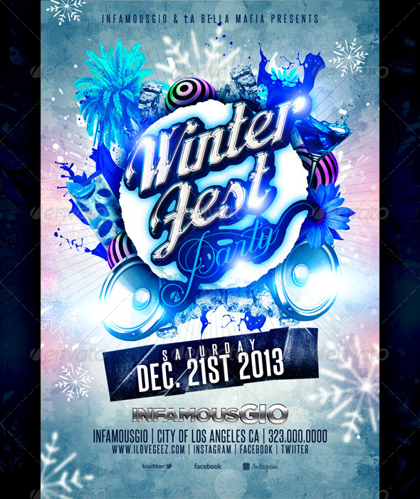 Winter Fest Party - Flyers Print Templates