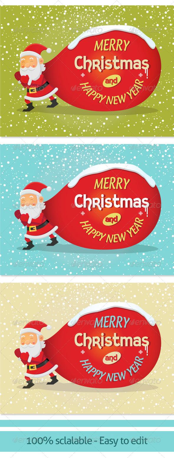 Vector Background for Christmas Card 002 - Christmas Seasons/Holidays