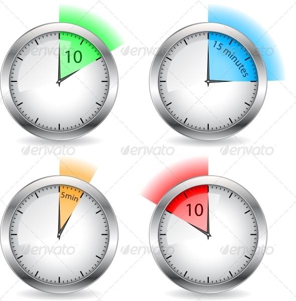 Timers - Web Elements Vectors