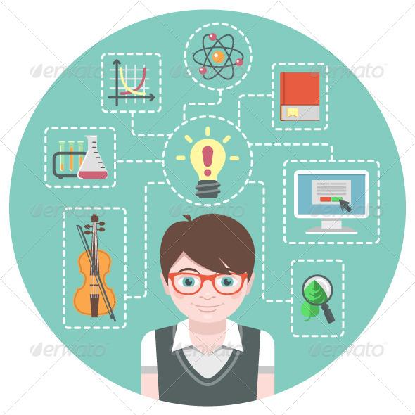 Genius Boy Concept - People Characters