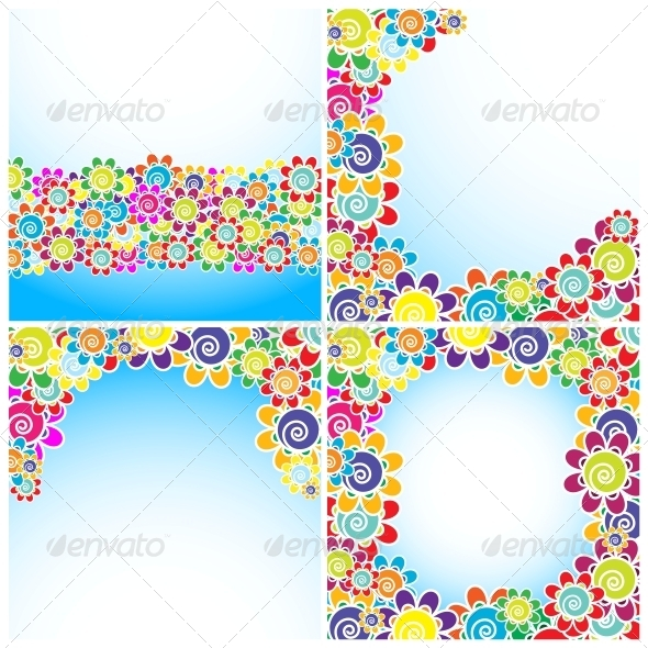 Flowers Background - Decorative Symbols Decorative