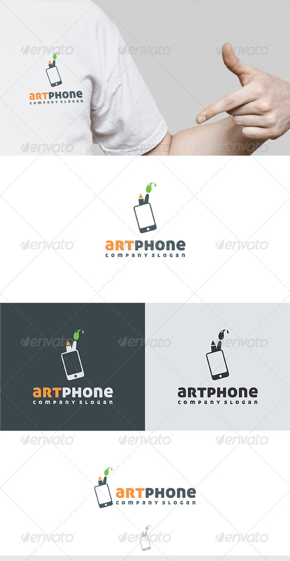 Art Phone Logo - Vector Abstract