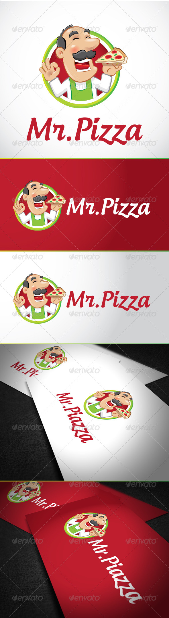 Mr Pizza Logo Template - Vector Abstract