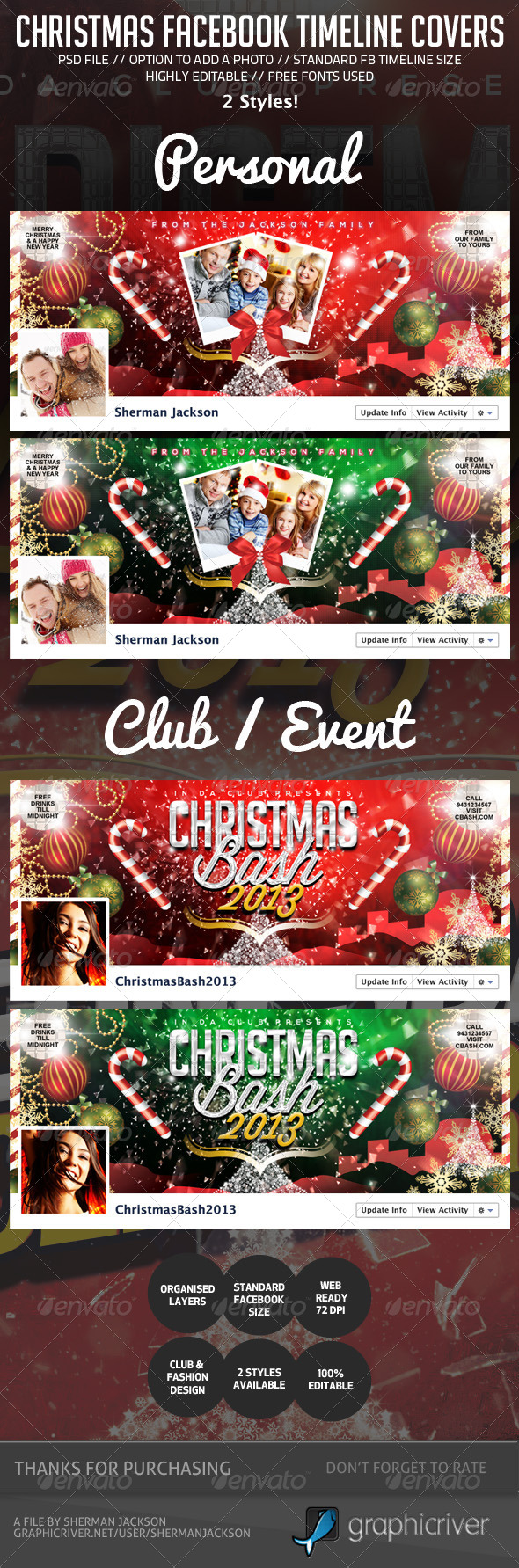 Christmas/Holiday Facebook Timeline Cover - Facebook Timeline Covers Social Media