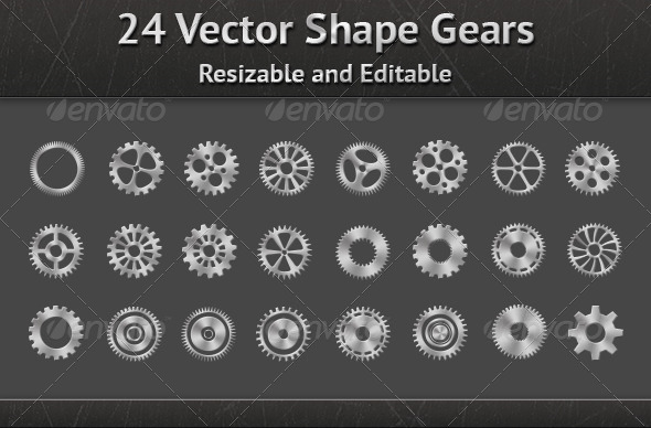 Vector Shape Gears - Miscellaneous Backgrounds