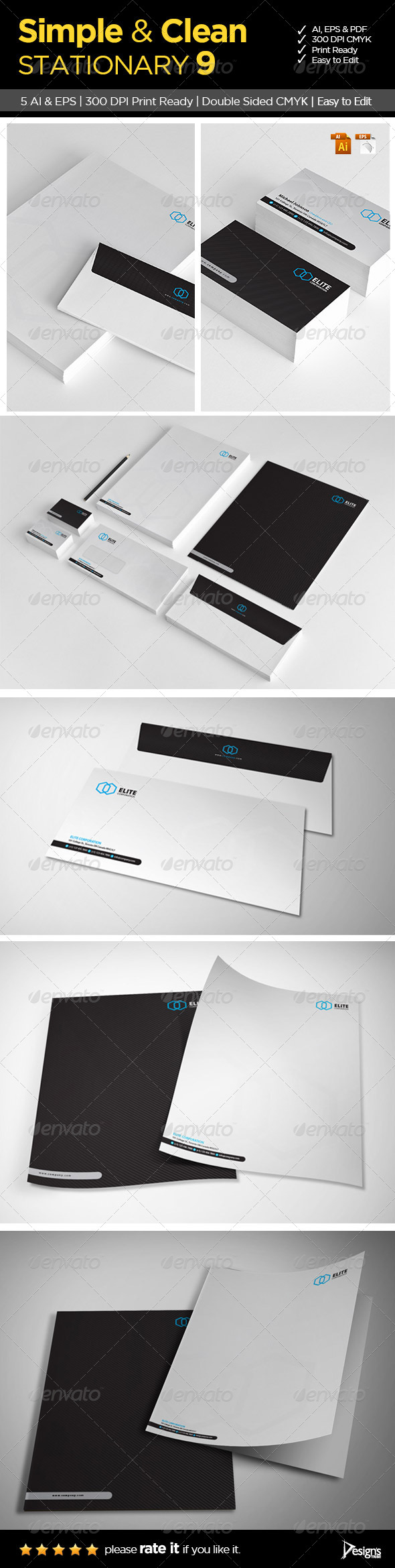 Simple and Clean Stationary 9 - Stationery Print Templates