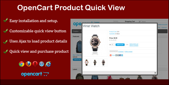 Product Quick View for Opencart - CodeCanyon Item for Sale