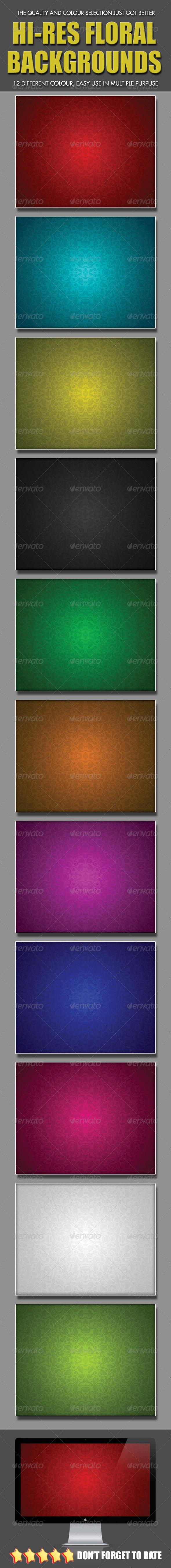 Hi-Res Floral Backgrounds - Miscellaneous Textures