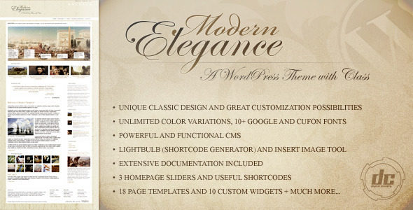 Modern Elegance – A WordPress Theme with Class