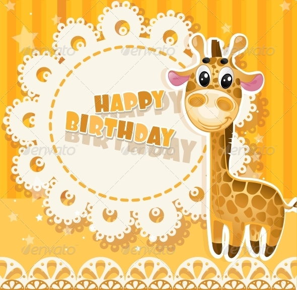 Happy Birthday Yellow Openwork Card - Birthdays Seasons/Holidays