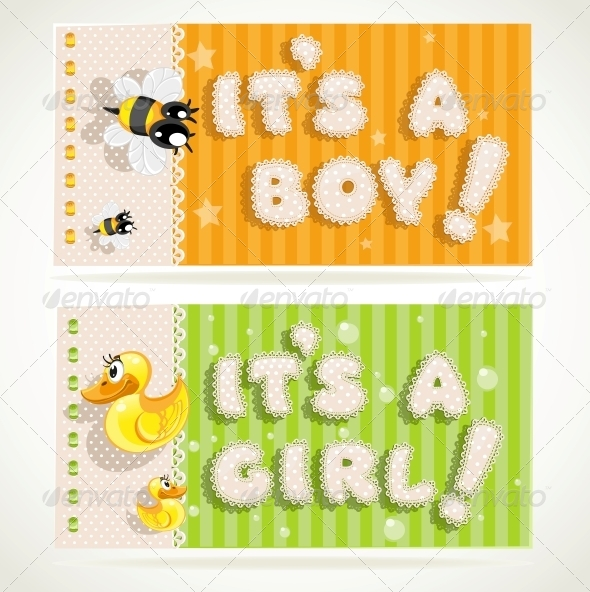 It`s a Boy and It`s a Girl Banners - Birthdays Seasons/Holidays