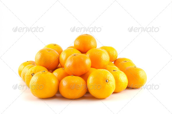a lot of mandarins or tangerines - Stock Photo - Images
