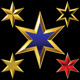 Gold Six-Pointed Stars - GraphicRiver Item for Sale