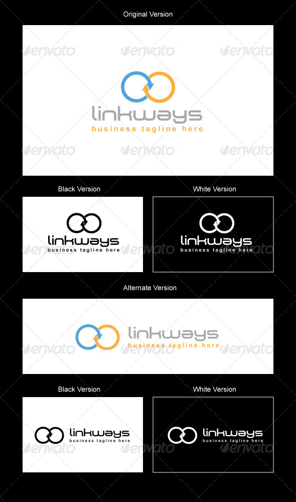 LinkWays Logo Design - Vector Abstract