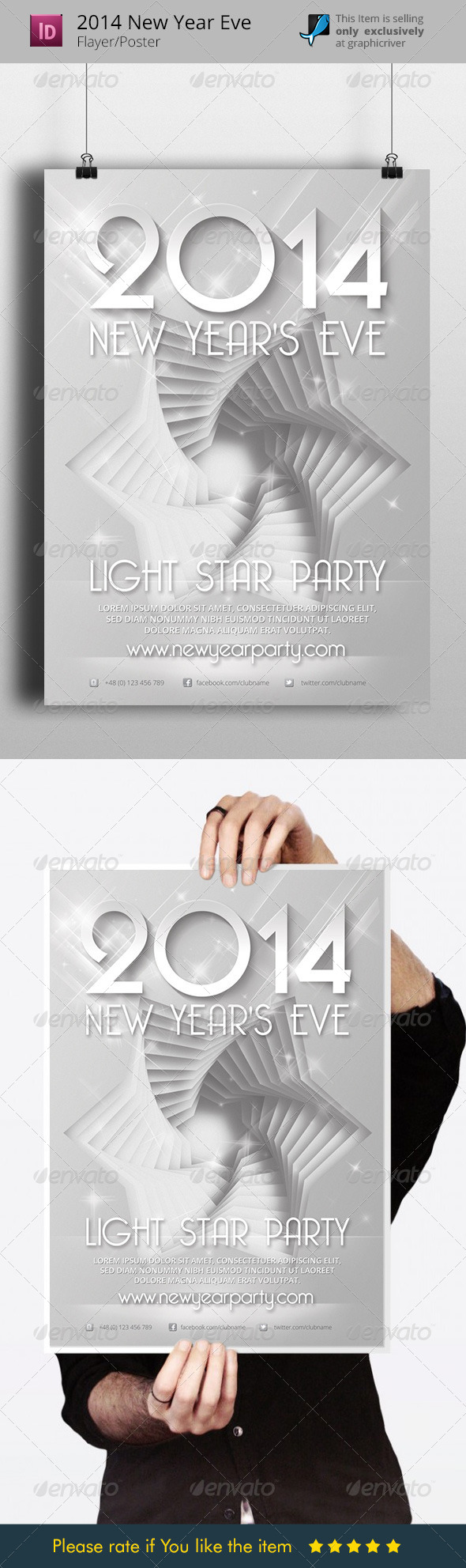 2014 New Years Eve Flyer Template - Holidays Events