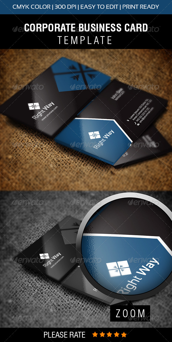 Right Way Business Card - Corporate Business Cards