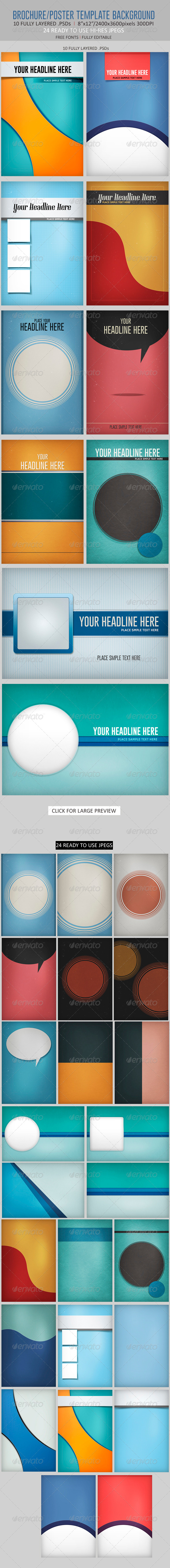 Brochure/Poster Template Backgrounds - Miscellaneous Backgrounds