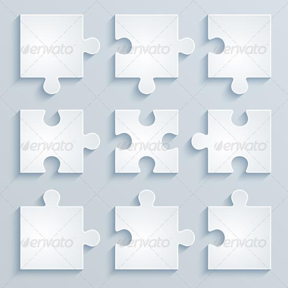 Parts of Paper Puzzles - Concepts Business