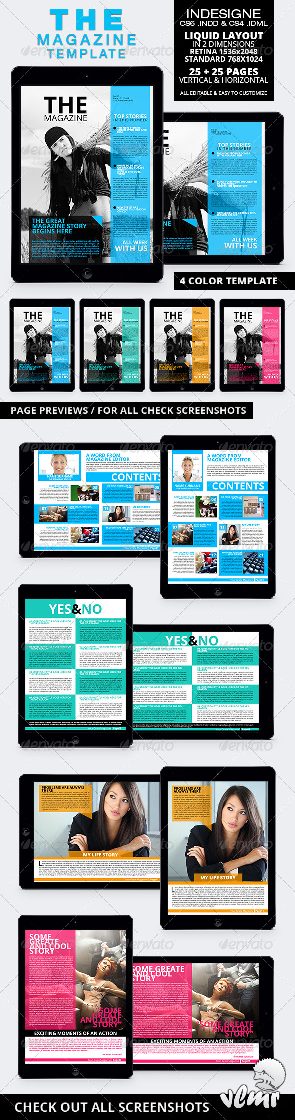 The Magazine Tablet Template - Digital Magazines ePublishing