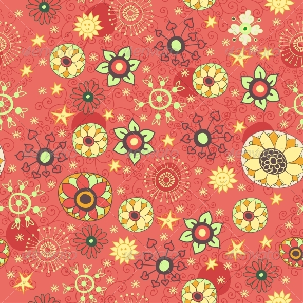 Vintage Flowers and Leaves - Patterns Decorative