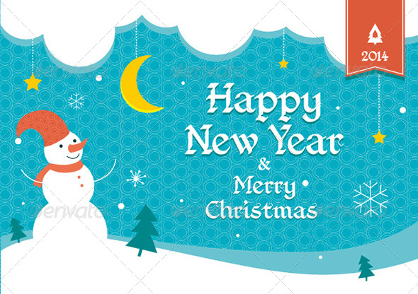 Merry Christmas and Happy New Year Flyer - Seasons/Holidays Conceptual