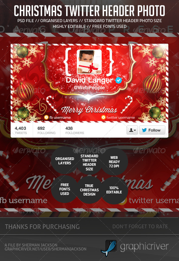 Chirstmas/Holidays Twitter Header Photo - Twitter Social Media