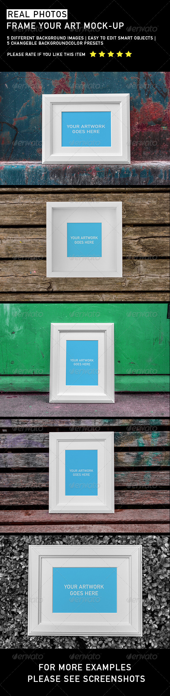 Frame Your Artwork - Product Mock-Ups Graphics