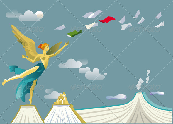 Independence Angel - Conceptual Vectors