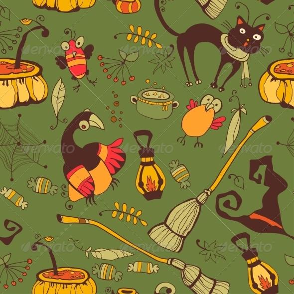 Halloween Day Thanksgiving Harvest - Patterns Decorative