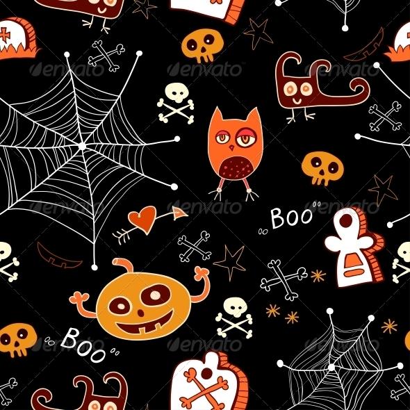 Halloween Seamless Background - Patterns Decorative