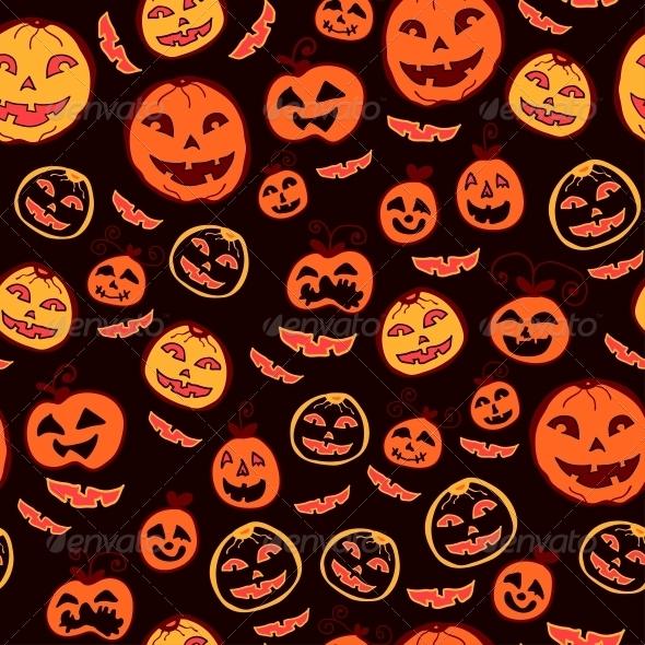 Halloween Holiday, Seamless Background - Patterns Decorative