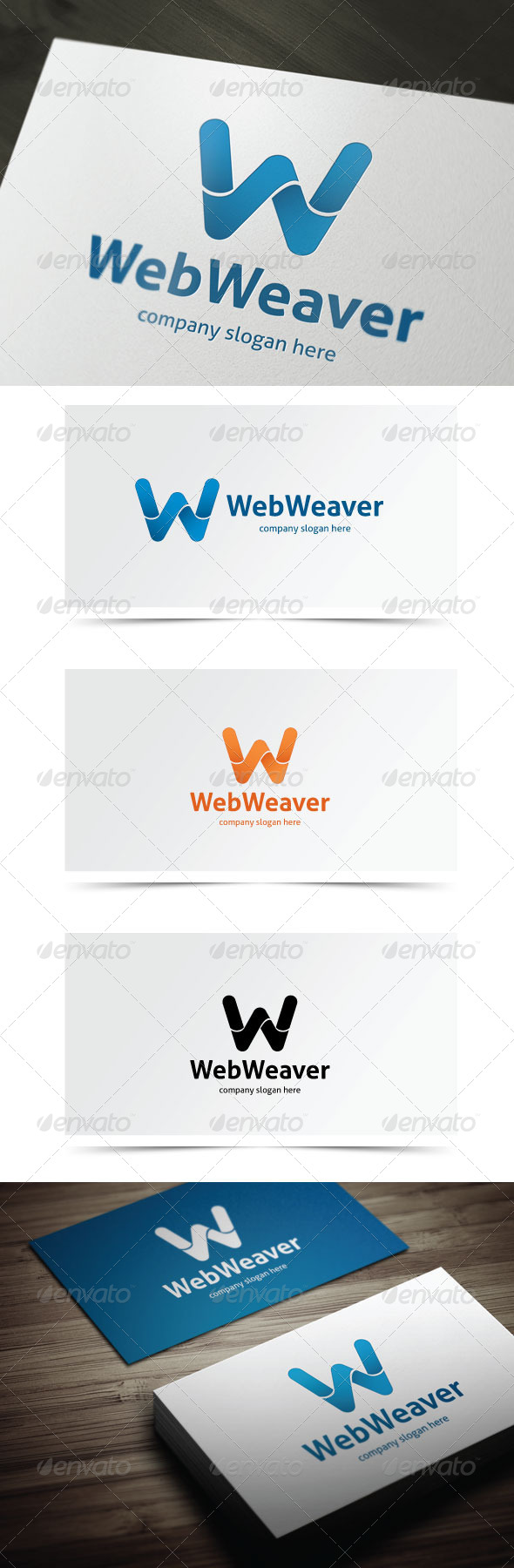 Web Weaver - Letters Logo Templates