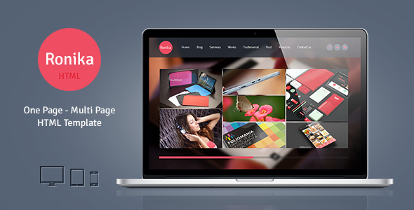 Ronika – One Page/Multi Page HTML Template